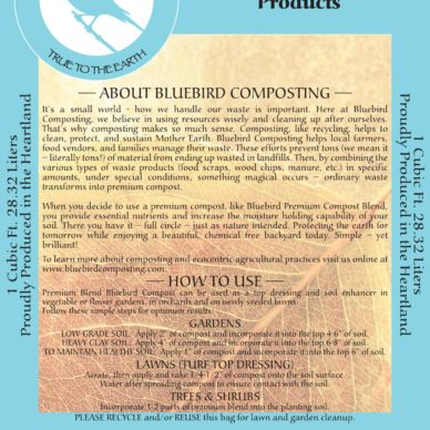 BlueBird Premium Blend Compost bag Back
